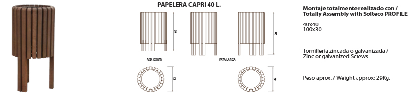 Papelera-Capri 40