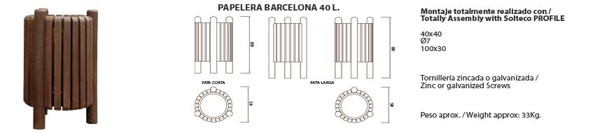 Papelera Barcelona 40