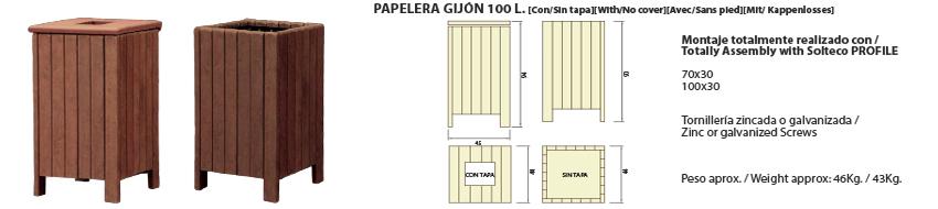 Papelera-Gijón 100