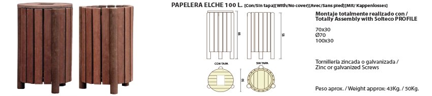 Papelera-Elche 100