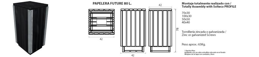 Papelera-Future 80