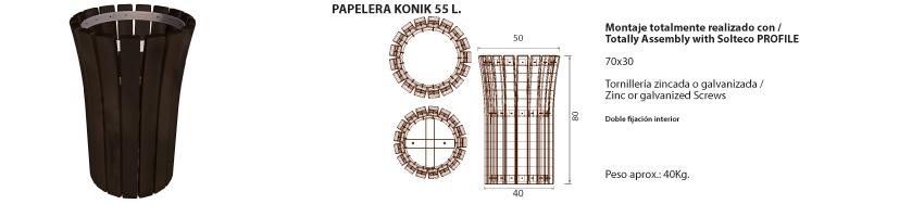 Papelera-Konik 55