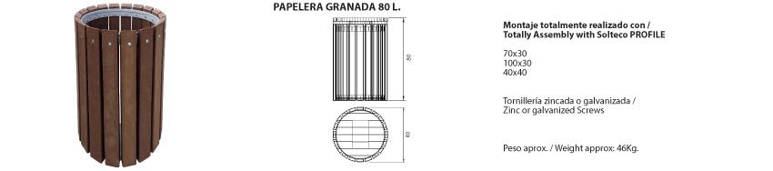 Papelera-Granada 80